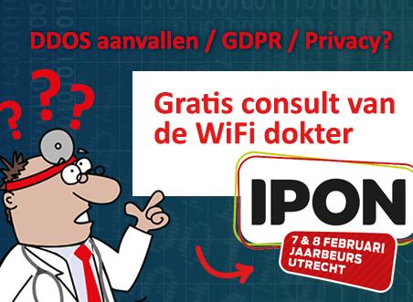 Is uw WiFi eind mei klaar voor de GDPR? Gratis consult van de WiFi dokter op de IPON