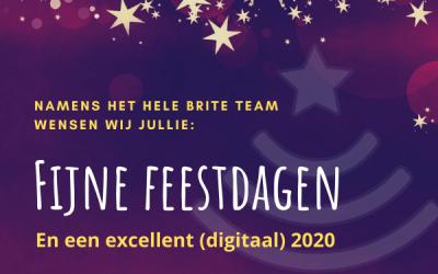 Fijne feestdagen en een excellent (digitaal) 2020